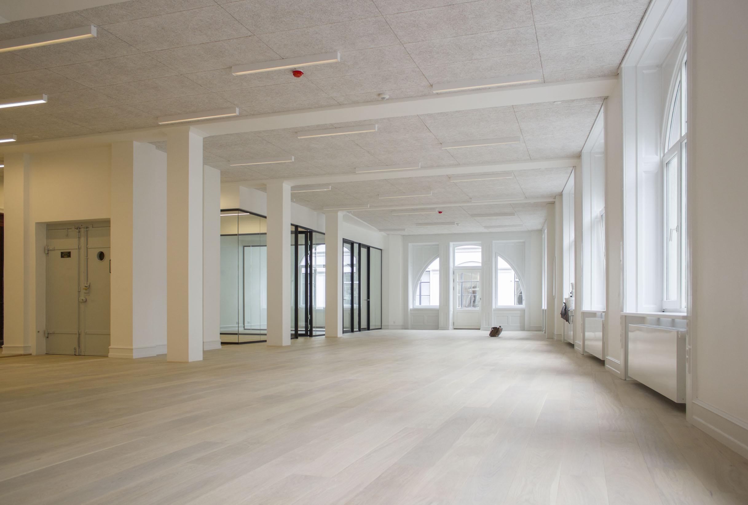 Interiør af kontorlokaler på Østergade 26